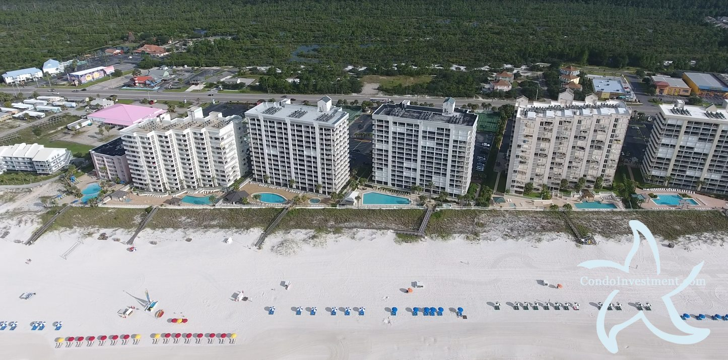 Aerial image of Pelican Pointe from the south