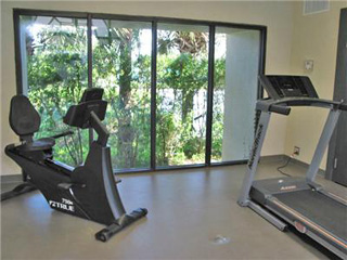 Fitness center at Pelican Pointe
