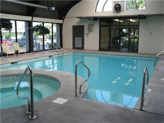 Indoor pool at Pelican Pointe